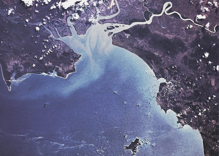 Phytoplankton Bloom Greeting Card featuring the photograph Phytoplankton Or Algal Bloom by Nasa