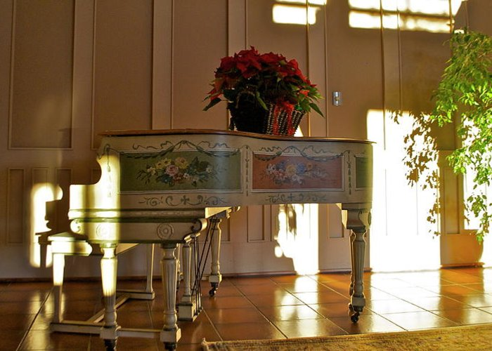 Greeting Card featuring the photograph Piano in Light by Lori Leigh