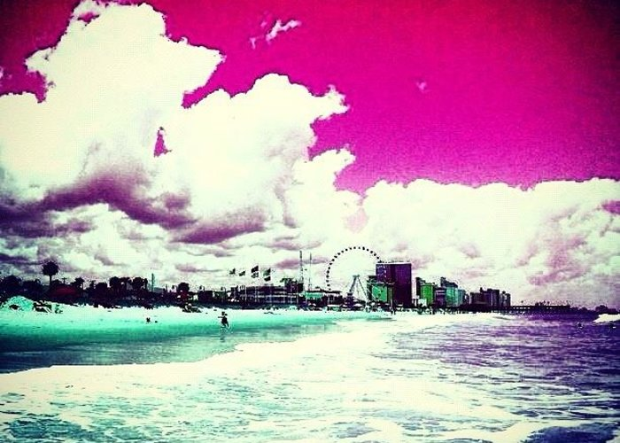 Beautiful Greeting Card featuring the photograph Pic Redo #beach #summer #prettycolors by Katie Williams