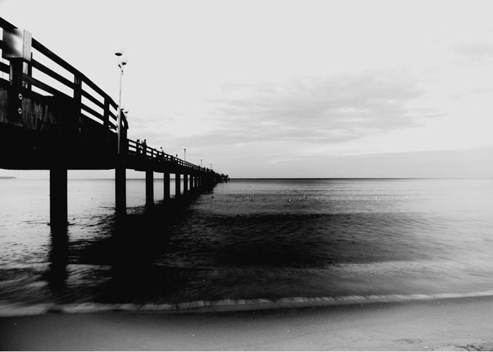 Pier Greeting Card featuring the photograph Pier by Falko Follert