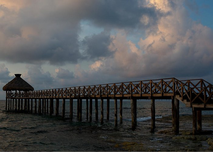 Mexico Greeting Card featuring the photograph Pier Into Dawn by Barry Doherty