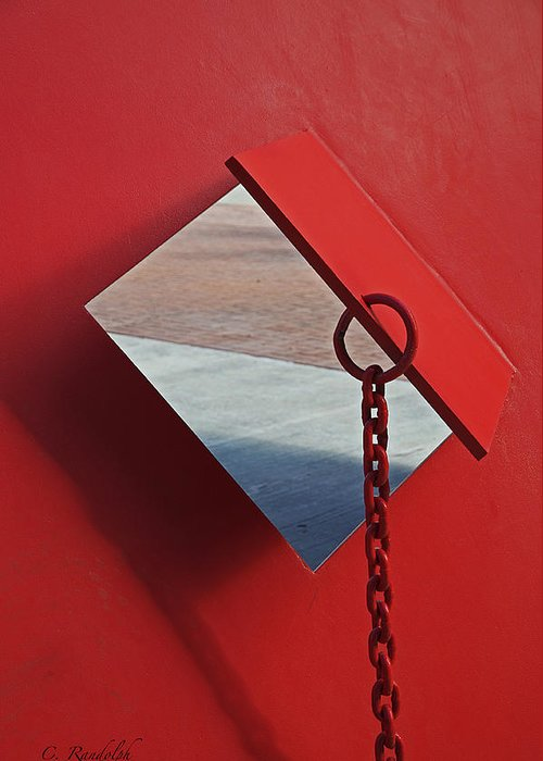 Red Metal Greeting Card featuring the photograph Pierced by Cheri Randolph