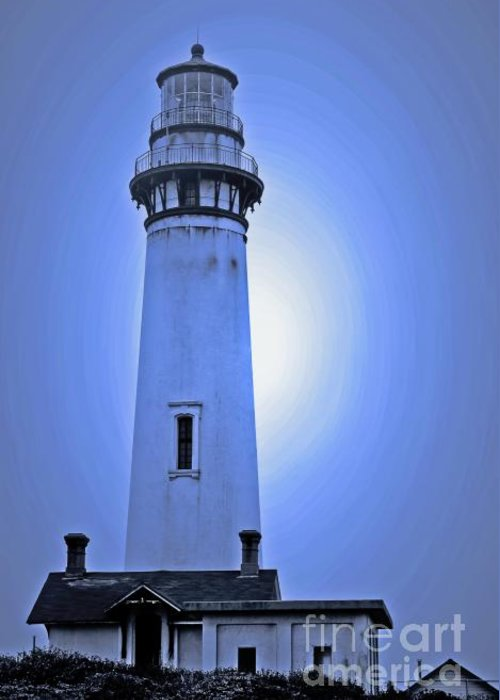 Lighthouse Greeting Card featuring the photograph Pigeon Point Lighthouse by Chih-Hung Kao