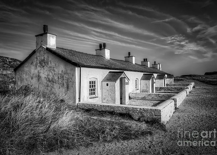 Anglesey Greeting Card featuring the photograph Pilot Cottages by Adrian Evans