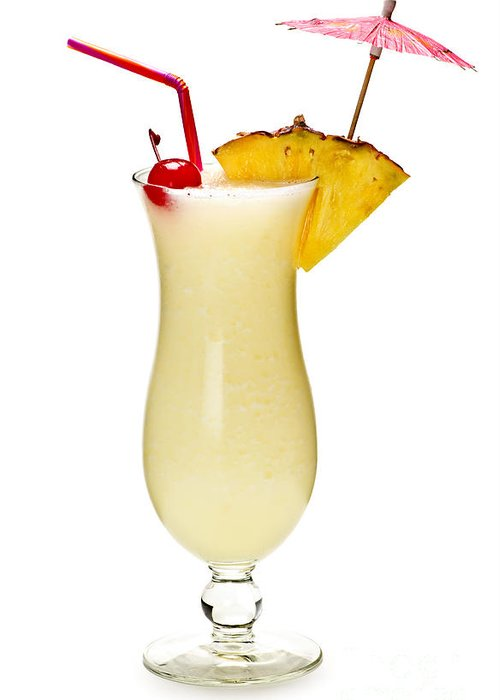Pina Greeting Card featuring the photograph Pina Colada Cocktail by Elena Elisseeva