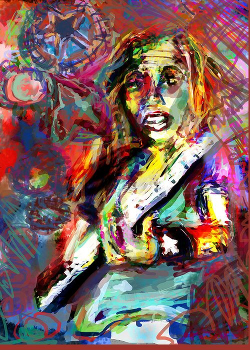 Rocker Greeting Card featuring the digital art Ping by James Thomas
