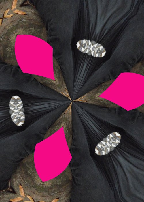 Diamonds Greeting Card featuring the digital art Pink Diamond by Paula Adams
