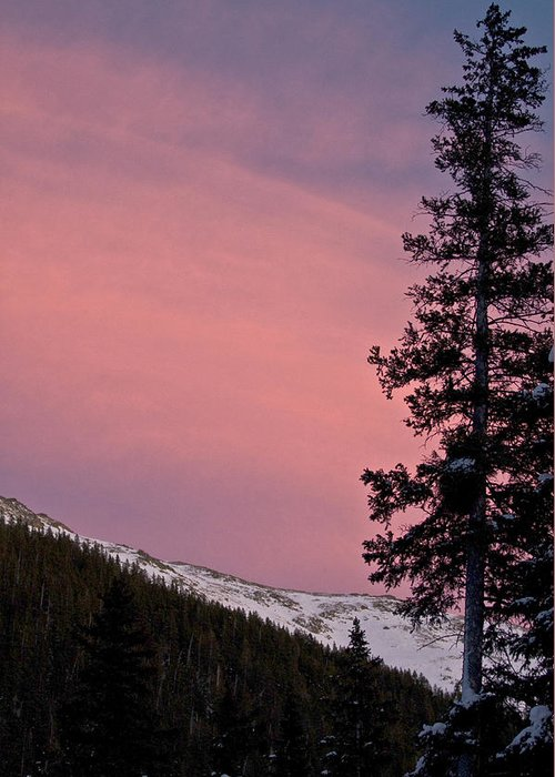 Landscape Greeting Card featuring the photograph Pink Sunset by Lisa Spencer