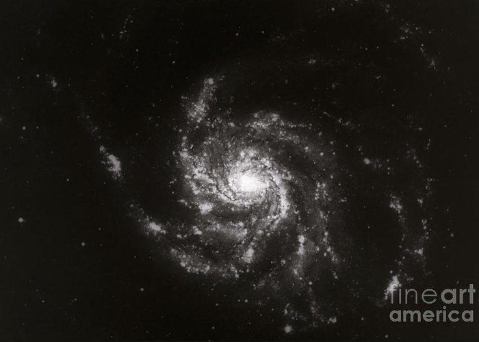 Galaxies Greeting Card featuring the photograph Pinwheel Galaxy, M101 by Science Source