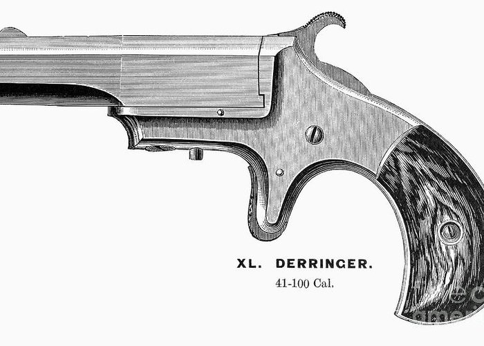 1880s Greeting Card featuring the photograph Pistol, 19th Century by Granger