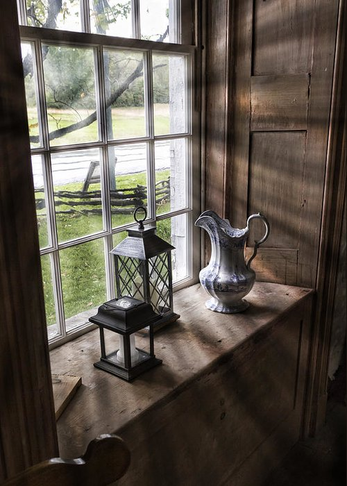 Hull House Greeting Card featuring the photograph Pitcher Window by Peter Chilelli