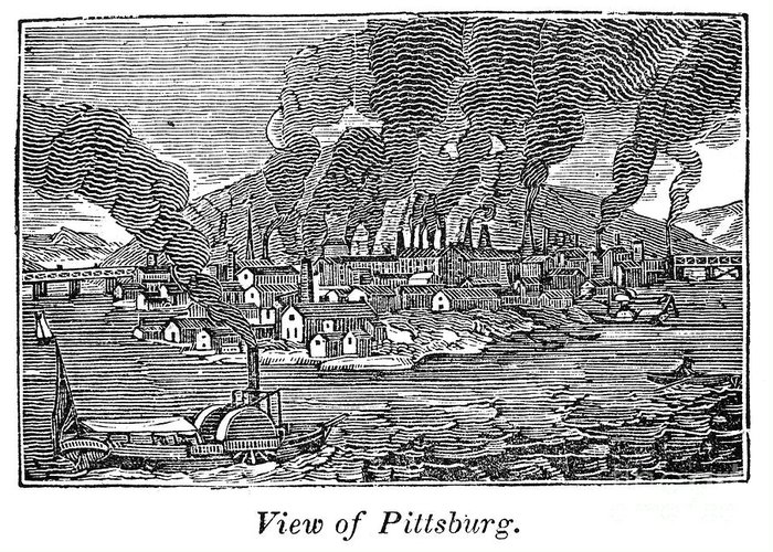 1836 Greeting Card featuring the photograph Pittsburgh, 1836 by Granger