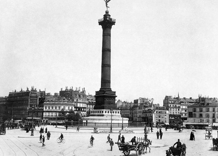 1900 Greeting Card featuring the photograph Place De La Bastille by Granger