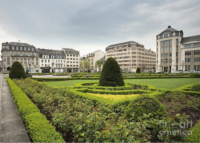 Architecture Greeting Card featuring the photograph Place Des Martyrs, Luxembourg City, Luxembourg, Europe by Jon Boyes