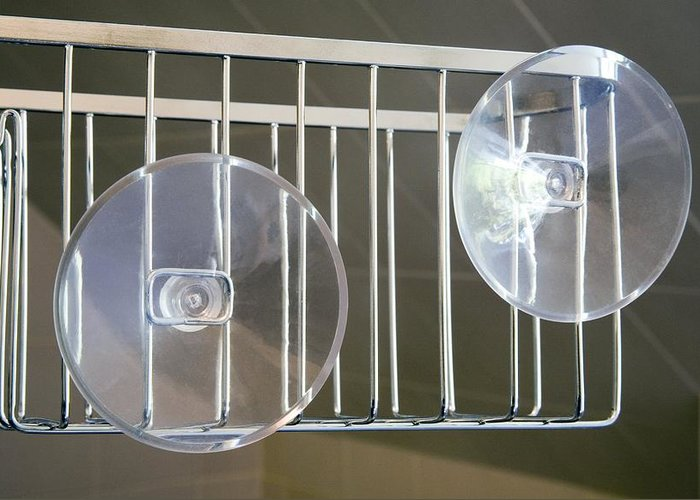 Equipment Greeting Card featuring the photograph Plastic Suction Cups by Sheila Terry