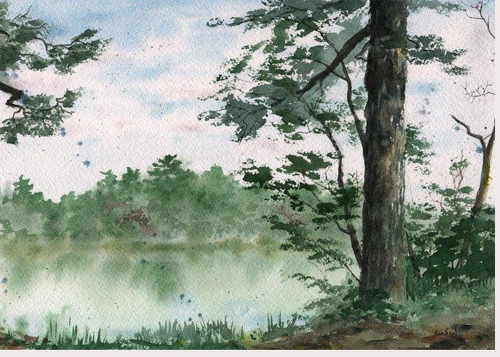 Plein Air Greeting Card featuring the painting Plein Air 11 by Sean Seal