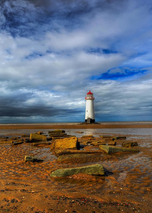 Beach Greeting Card featuring the photograph Point Of Ayr Beach by Adrian Evans