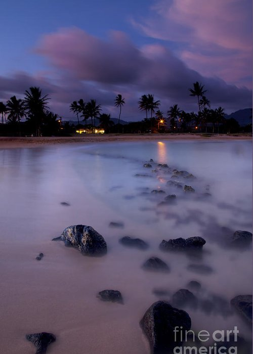 Poipu Greeting Card featuring the photograph Poipu Evening Storm by Mike Dawson