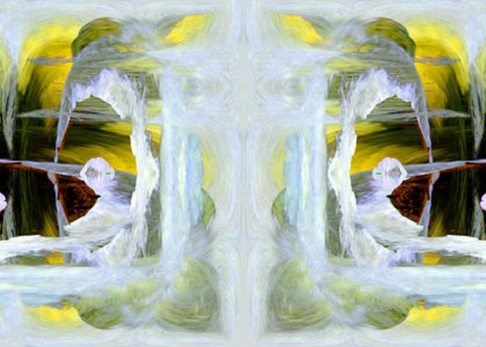 Abstract Greeting Card featuring the digital art Pond In Fairyland by Joe Halinar