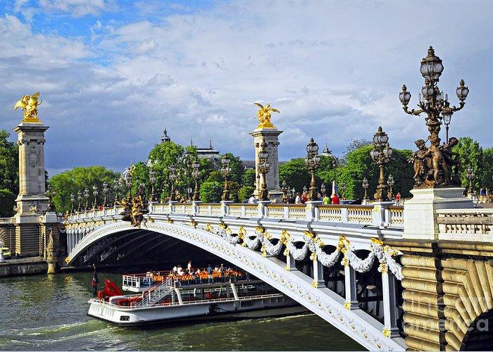 Bridge Greeting Card featuring the photograph Pont Alexander IIi by Elena Elisseeva