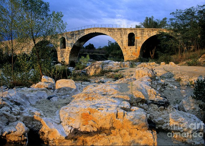 France Greeting Card featuring the photograph Pont Julien. Luberon. Provence. France. Europe by Bernard Jaubert