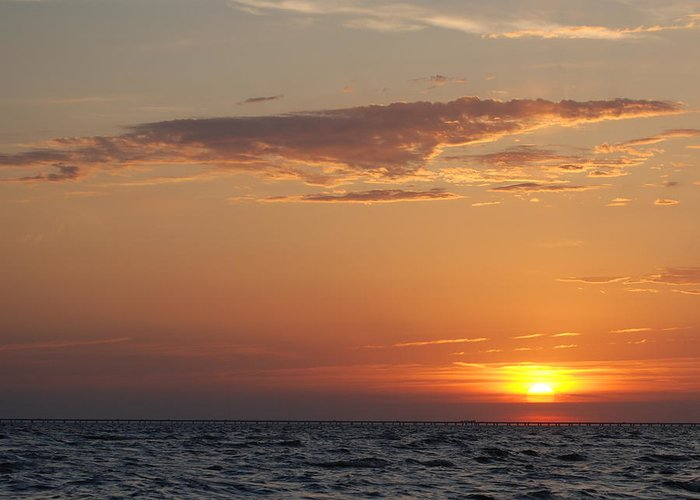Lake Greeting Card featuring the photograph Pontchartrain Sunset by Beth Gates-Sully