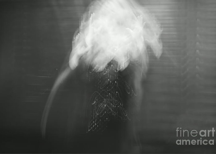 Surreal Greeting Card featuring the photograph Poof - Bw by Aimelle