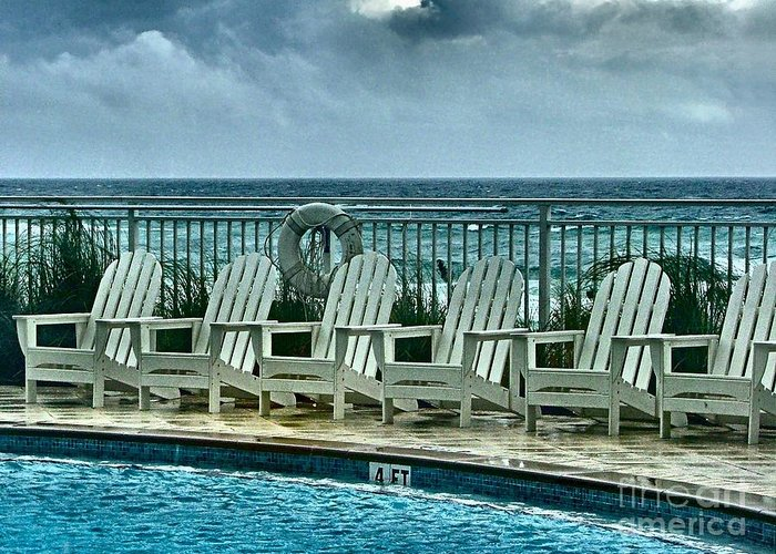 Gulf Front Pool Photographs Greeting Cards