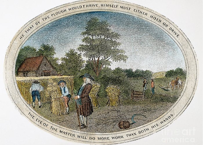 1800 Greeting Card featuring the photograph Poor Richard Illustrated by Granger