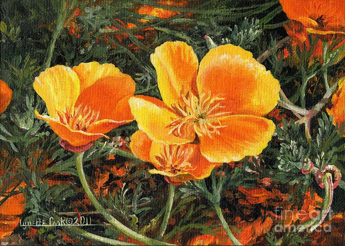 Lynette Cook Greeting Card featuring the painting Poppy Power by Lynette Cook