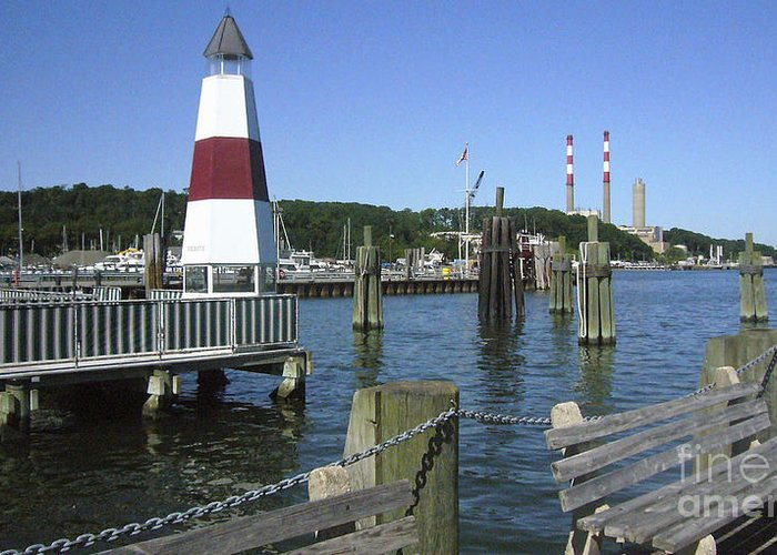 Port Greeting Card featuring the photograph Port Jefferson Harbor by Donna Frasca