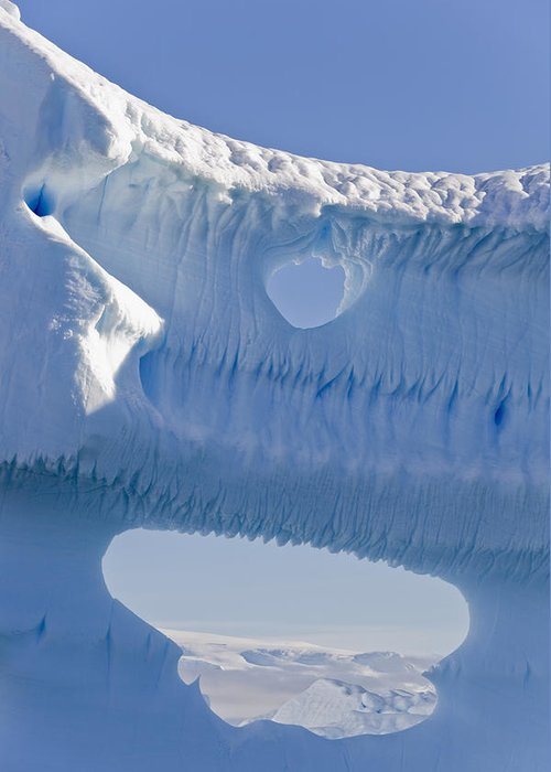 Big Greeting Card featuring the photograph Portion Of A Gigantic Iceberg by Ron Watts