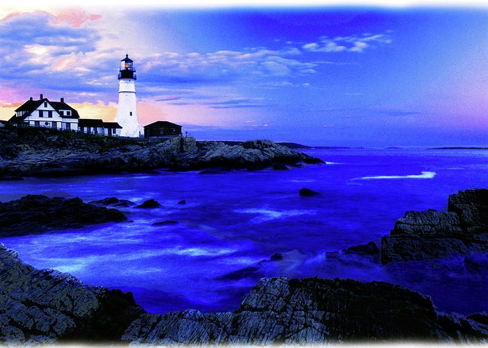 Lighthouse Greeting Card featuring the photograph Portland Head Lighthouse by Fred Kirchhoff