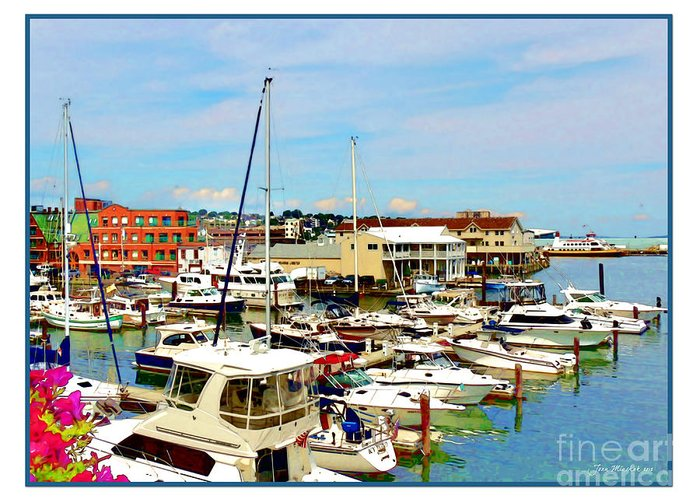 Portland Maine Harbor Greeting Card featuring the photograph Portland Maine Harbor by Joan Minchak