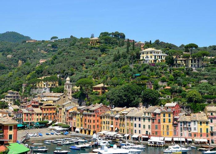 Portofino Greeting Card featuring the photograph Portofino Hillside by Corinne Rhode