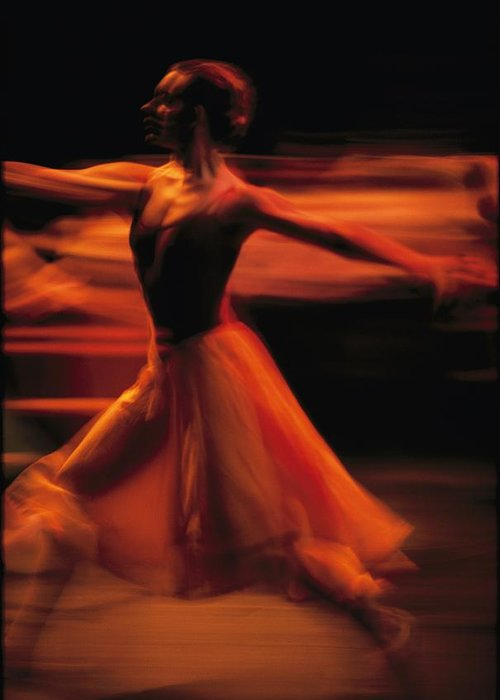 Africa Greeting Card featuring the photograph Portrait Of A Ballet Dancer Bathed by Michael Nichols