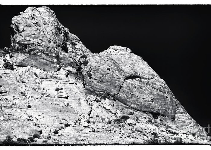 Portrait Of A Rock Greeting Card featuring the photograph Portrait Of A Rock by John Rizzuto