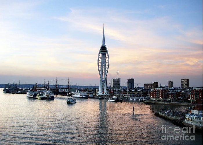 Architecture Greeting Card featuring the photograph Portsmouth Waterfront by Jane Rix