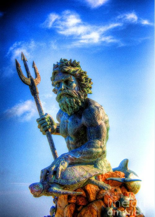 Ancient Greeting Card featuring the photograph Poseidon by Dan Stone