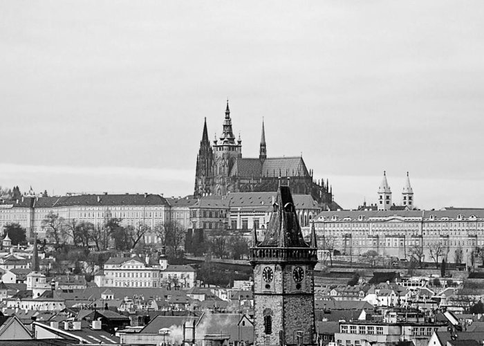 Prague Greeting Card featuring the photograph Prague - City Of A Hundred Spires by Christine Till