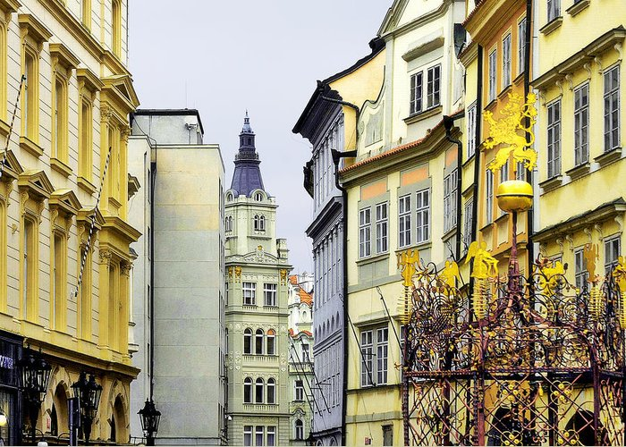 City Greeting Card featuring the photograph Prague - Walking In The Footsteps Of Kings by Christine Till