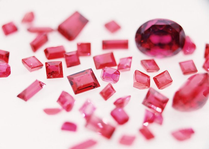 Gemstones Greeting Card featuring the photograph Precious Gemstones by Lawrence Lawry