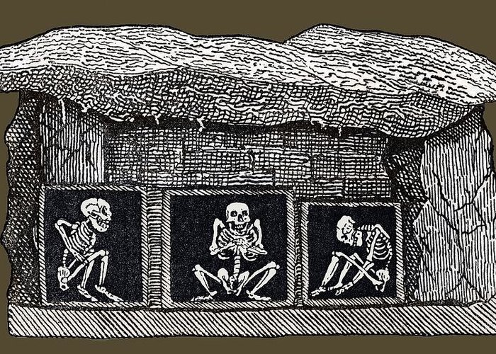Human Greeting Card featuring the photograph Prehistoric Tomb, Sweden by Sheila Terry