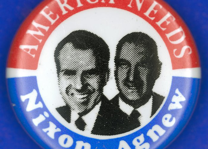 1972 Greeting Card featuring the photograph Presidential Campaign:1972 by Granger
