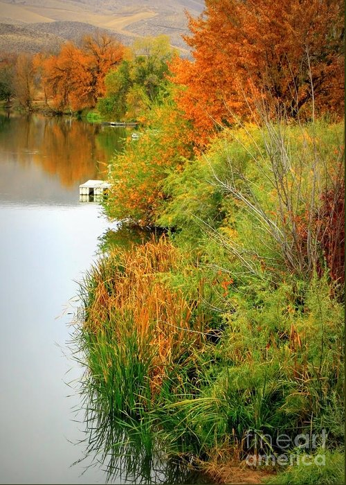 Prosser Greeting Card featuring the photograph Prosser Autumn Docks by Carol Groenen