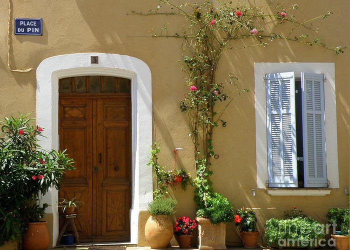 Provence Greeting Card featuring the photograph Provence Door 3 by Lainie Wrightson