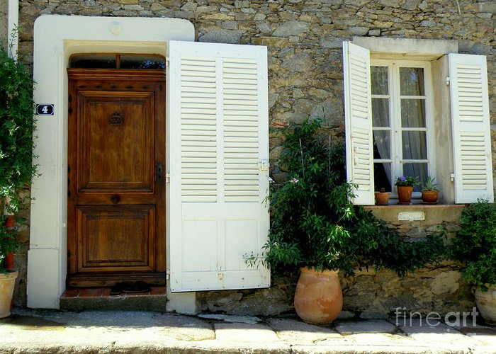 Doors And Windows Greeting Card featuring the photograph Provence Door Number 4 by Lainie Wrightson