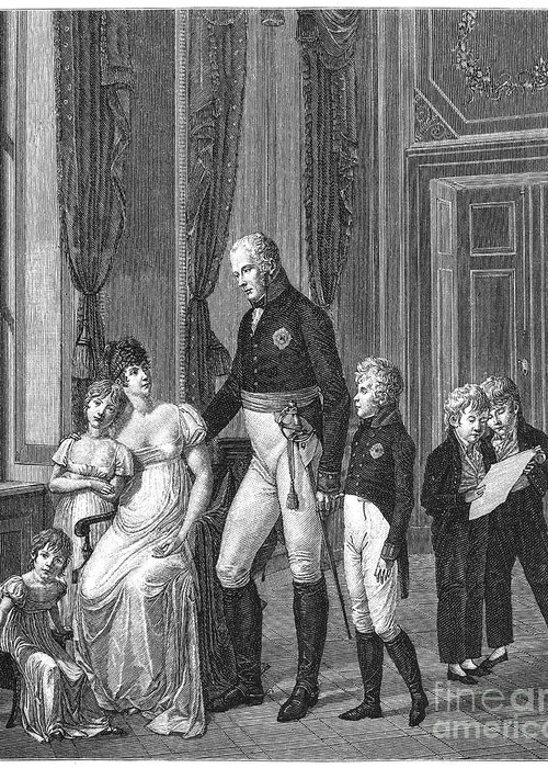 1807 Greeting Card featuring the photograph Prussian Royal Family, 1807 by Granger