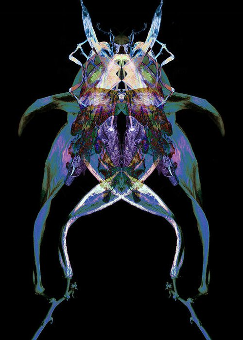 Psychedelic Greeting Card featuring the photograph Psycho Frog Bug by David Kleinsasser