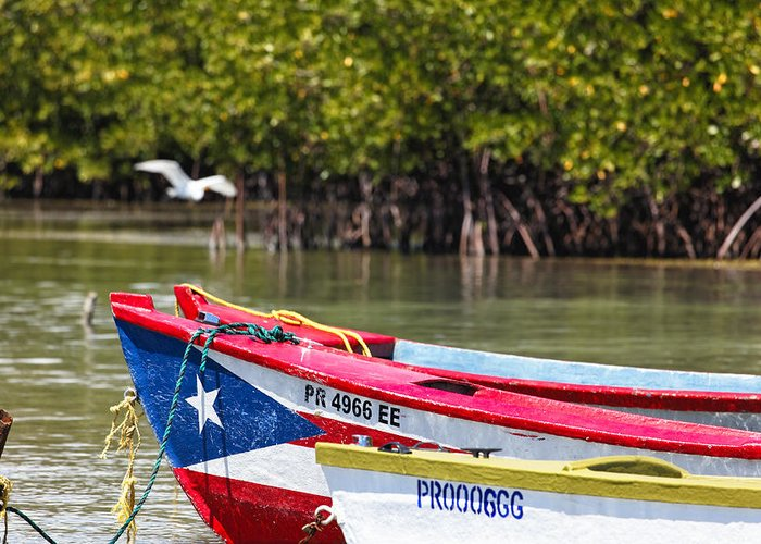 Guanica Greeting Card featuring the photograph Puerto Rican Fishing Boats by George Oze